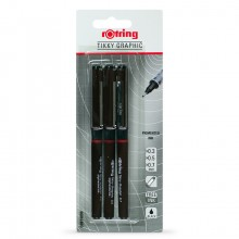 Rotring : Tikky Graphic Fineliner Pigment Pen : Black : 0.3, 0.5 & 0.7mm