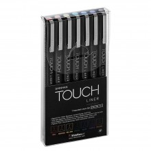 ShinHan : Touch Liner : 0.1mm : Set of 7 : Assorted Colours