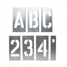 Handover : Interlocking Alphabet/Lettering Stencils in a 76 Piece Set : 4 in
