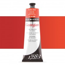 Daler Rowney : Georgian Oil Paint : 225ml : Vermilion Hue