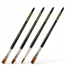 Handover : Series K : Short Handled Synthetic Sable Brushes