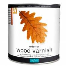 Polyvine : Exterior Wood Varnish Crystal Clear Dead Flat : 2.5 litre