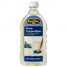 Rustin's : Pure Turpentine for Artists : 500ml : By Road Parcel Only