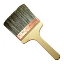 RTF Granville : Copper Bound Grey Bristle Paste Brush : 6 inch