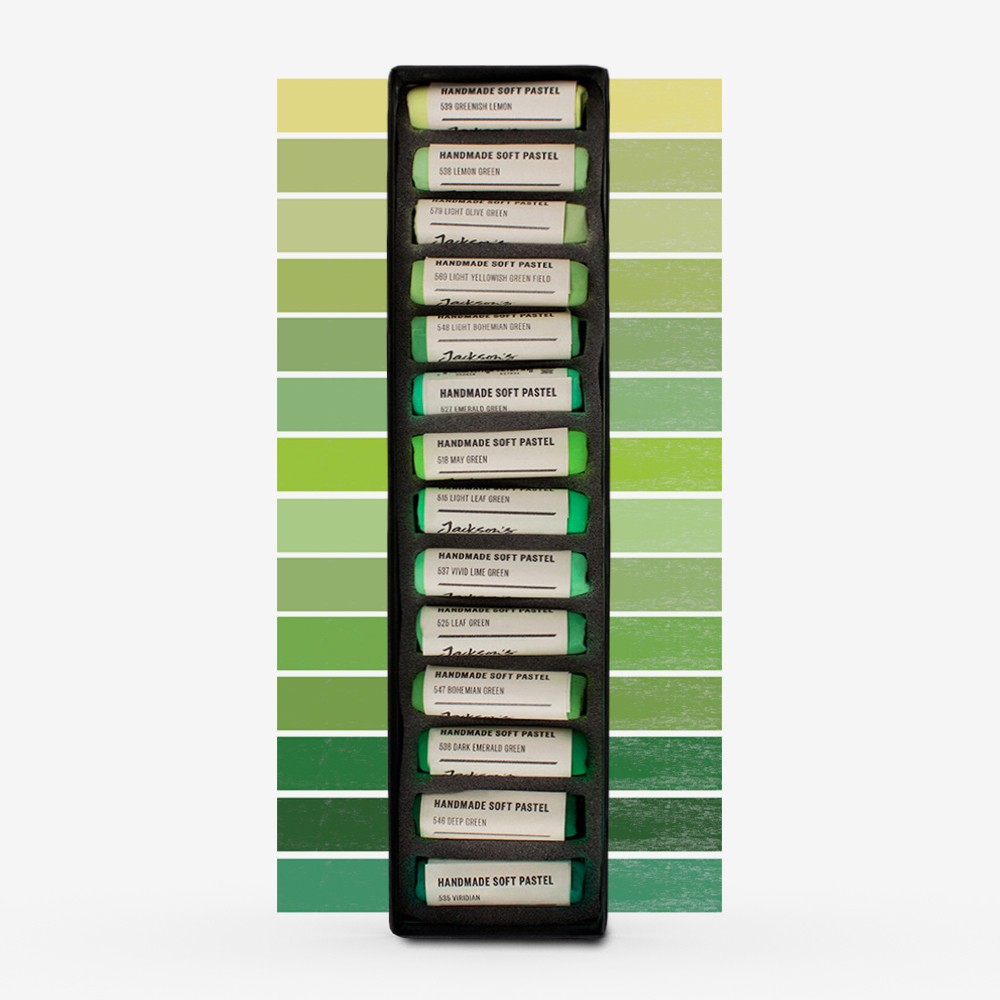 Jackson's : Handmade Soft Pastel : 14 Colours : Complete Set (Part 8 of 10)