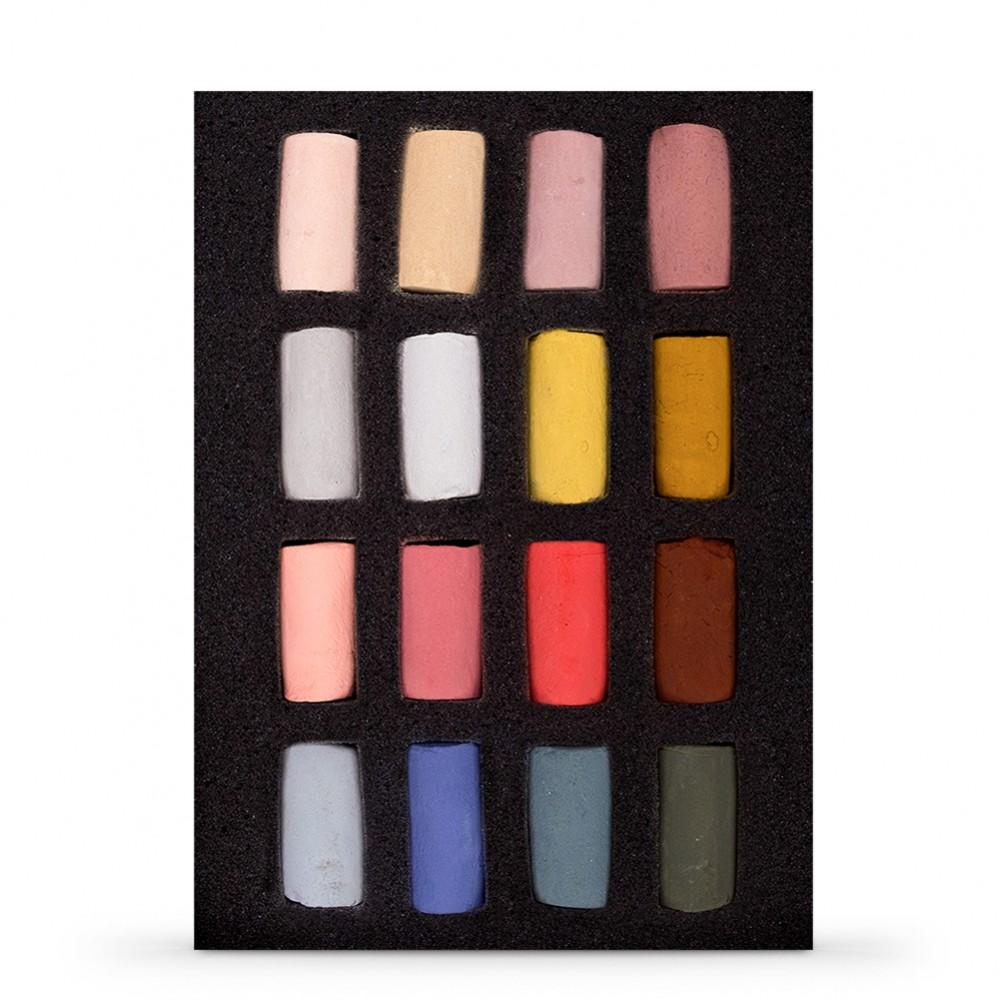 Unison Colour : Soft Pastel : Portrait Set of 16 Half Sticks