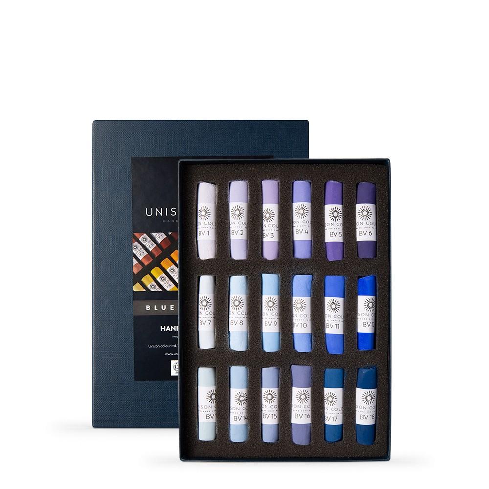 Unison Colour : Soft Pastel : Set of 18 Blue Violet