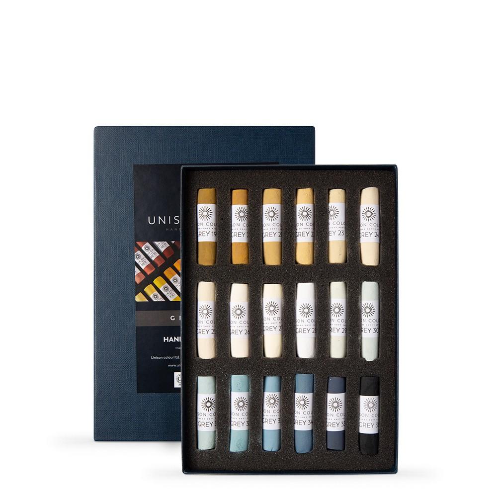 Unison Colour : Soft Pastel : Set of 18 Grey 19-36