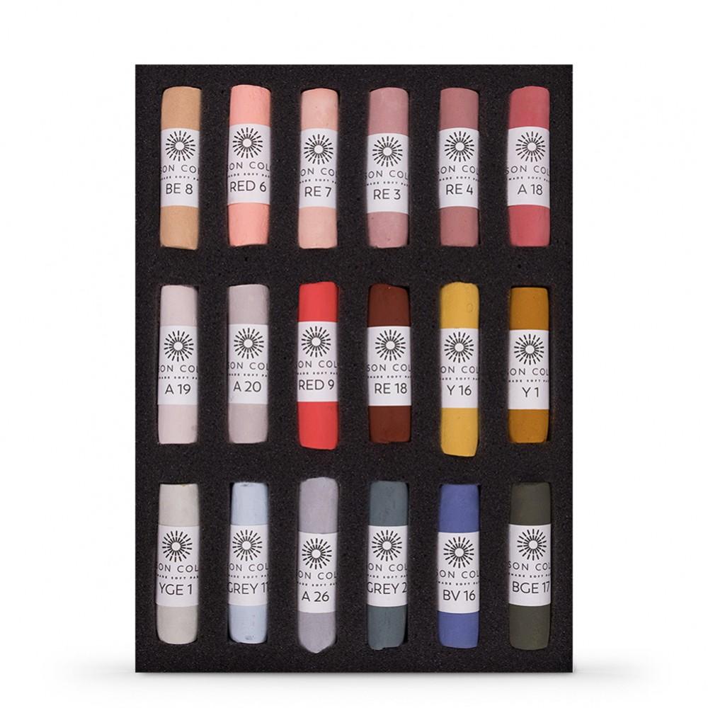 Unison Colour : Soft Pastel : Set of 18 Portrait