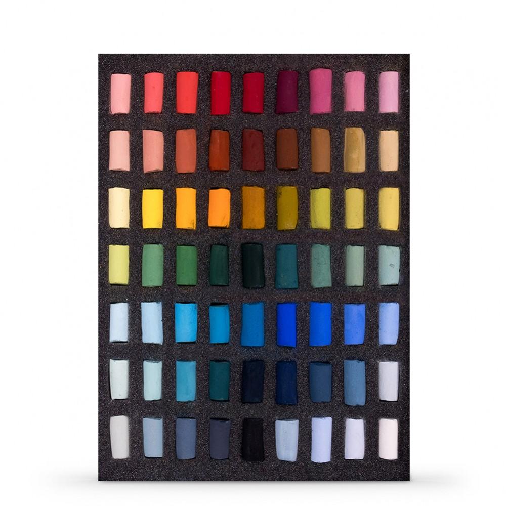 Unison Colour : Soft Pastel : Set of 63 Half Sticks