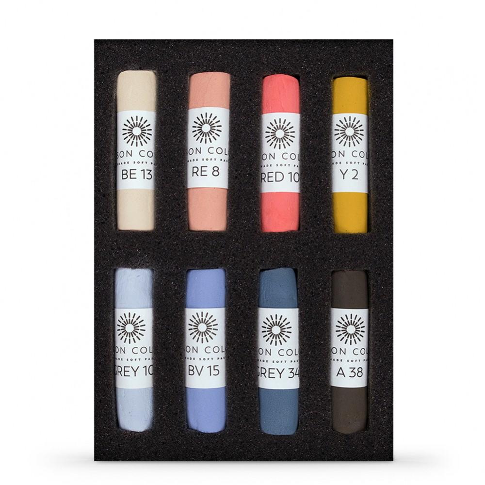 Unison Colour : Soft Pastel : Set of 8 Portrait