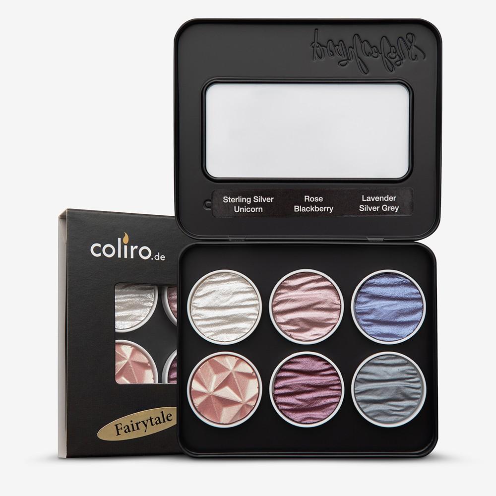 Finetec : Coliro : Pearlcolors : Mica Watercolour Paint : 30mm : Fairytale Set of 6