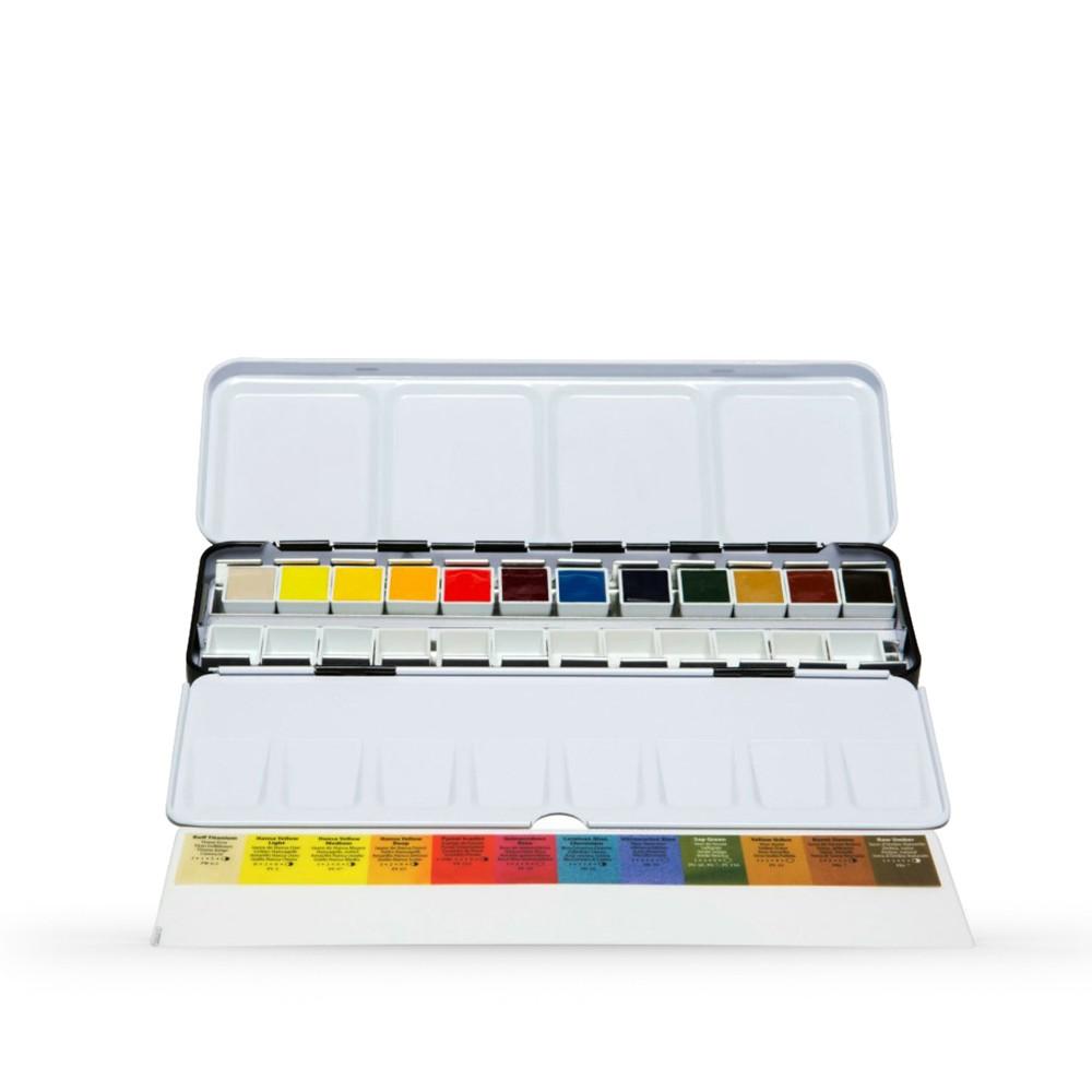 Daniel Smith : Watercolour Paint : Half Pan : Metal Box Set of 12
