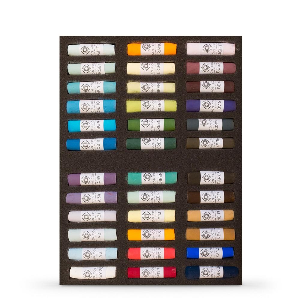 Unison Colour : Soft Pastel : Set of 36 : Robert Dutton Moorland Set