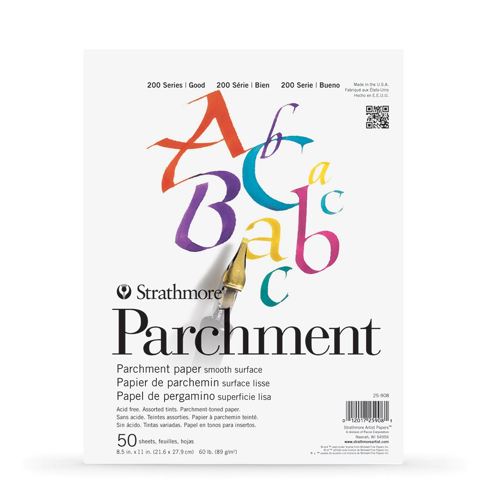 Strathmore : 200 Series : Parchment Pad : 89gsm : 50 Sheets : 8.5x11in