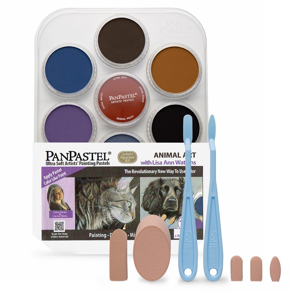 PanPastel : Animal Art With Lisa Ann Watkins : Set of 10 Colours : Plus Tools