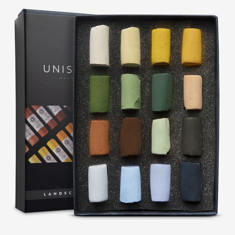 Unison Colour : Soft Pastel : Landscape Set of 16 Half Sticks