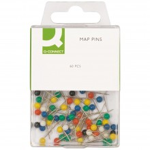 Q-Connect : Map Pins : Pack of 60