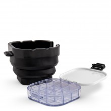 Studio Essentials : Foldable Bucket Brush Washer : Black