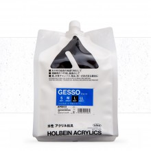 Holbein : White Acrylic Gesso : 2000ml : (L) Coarse Texture
