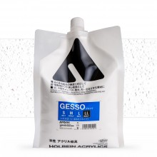 Holbein : White Acrylic Gesso : 2000ml : (LL) Very Coarse Texture