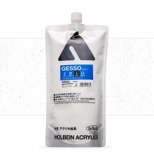 Holbein : White Acrylic Gesso : 900ml : (L) Coarse Texture