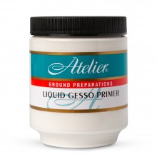 Atelier : Acrylic Medium : 250ml : Liquid Gesso Primer
