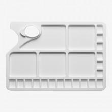 Studio Essentials : Large Rectangular Plastic Palette : 10x13in : 23 Well