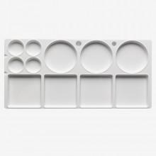 Studio Essentials : Medium Rectangular Plastic Palette : 12.5x6in