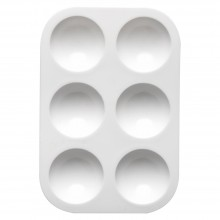 Studio Essentials : Plastic Palette : 3.5x5in : 6 Well