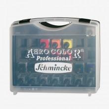 Schmincke : Aero Color Finest Acrylic Ink : Plastic Case Set : 16x28ml & Empty Jars