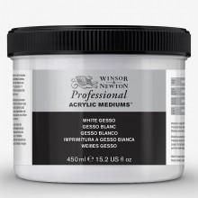Winsor & Newton : Professional : Acrylic Medium : White Gesso Primer : 450ml