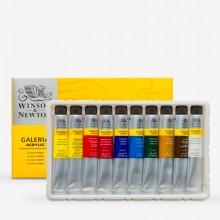 Winsor & Newton : Galeria : Acrylic Paint : 20ml : Set of 10