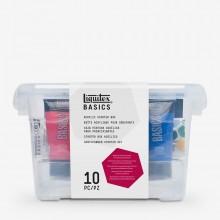 Liquitex : Basics : Acrylic Paint Starter Box : Set of 10