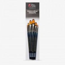 Pro Arte : Mastertouch : Aquamarine : Filbert  : Watercolour & Gouache Brush Set