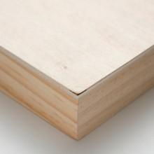 Ampersand : Artist Panel : Unprimed Basswood Panel : Cradled 38mm : 12x16in