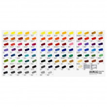 Golden : Heavy Body : Hand Painted Colour Chart