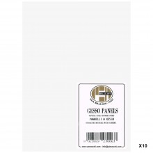 Belle Arti : Gesso Panel : Multi-Ply Poplar Wood Base : 13x18cm : Box of 10
