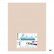 Multimedia Artboard : Pastel Artist Panel : 0.8 mm : 320 Grit : 5 Pack : 11x14in : Sandstone