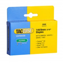 Tacwise : 140 Staples : 8mm : Box of 2000