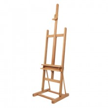 Mabef : M09 Studio Easel Oiled Beechwood 67 To 93in Height Max Canvas: 46in