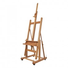 Mabef : M18 Studio Easel Oiled Beechwood 80 To 120in Height Also Reclines Horizontal Max Canvas: 94in