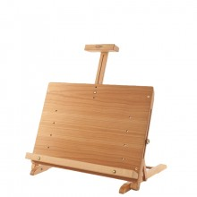 Mabef : M34 Table Easel Beechwood 25in Height, Max Canvas 21in