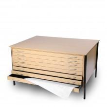 Vistaplan : Wooden Economy Planchest : 6 Drawer A1 : Light Oak : UK Only
