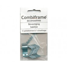Lion Framing : 12 x Canvas Offset Clips 18mm : 26 x Screws and 1 Sawtooth Hanger