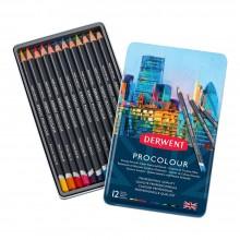 Derwent : Procolour : Colour Pencil : Tin Set of 12