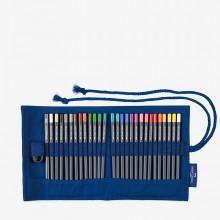 Faber Castell : Goldfaber : Pencil Roll : 28 Pencils Plus Accessories