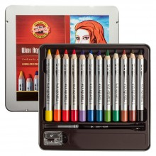 Koh-I-Noor : Wax Watercolour Pencils : Tin Set of 12