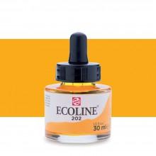 Royal Talens : Ecoline : Liquid Watercolour Ink : 30ml : Deep Yellow