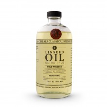 Chelsea Classical Studio : Clarified Extra Pale Cold Pressed Linseed Oil : 16oz (473ml)